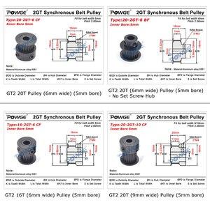 Image 5 - POWGE VORON V2.2 Set Motion PARTS GT2 LL 2GT RF Open Timing Belt 2GT 16T 20T Pulley 110/188 Loop Belt Shaft Bearing Rubber 5mm