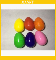 40*60mm Plastic Easter Egg Solid Color Empty Plastic Egg Capsule For Easter /Gift /Party Decoration 1000pcs/Lot