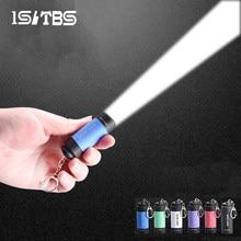 Mini lampe de poche porte-clés, torche Portable, extérieur, étanche, batterie intégrée, USB Rechargeable, randonnée, Camping