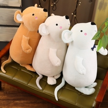 1pcs Soft Lovely Mouse Plush Toy Super Plushie Rat Stuffed Animal Kawaii Doll Mascot for Kids