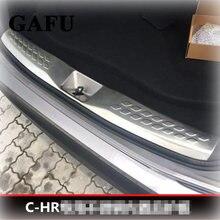Для toyota chr 2017 2018 нержавеющая сталь задний бампер багажник