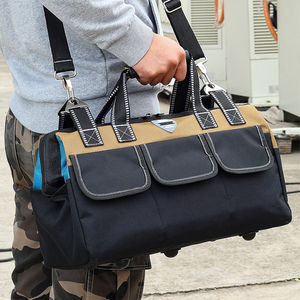 Image 2 - 도구 가방 휴대용 전기 가방 다기능 수리 설치 캔버스 대형 두꺼운 도구 가방 작업 포켓
