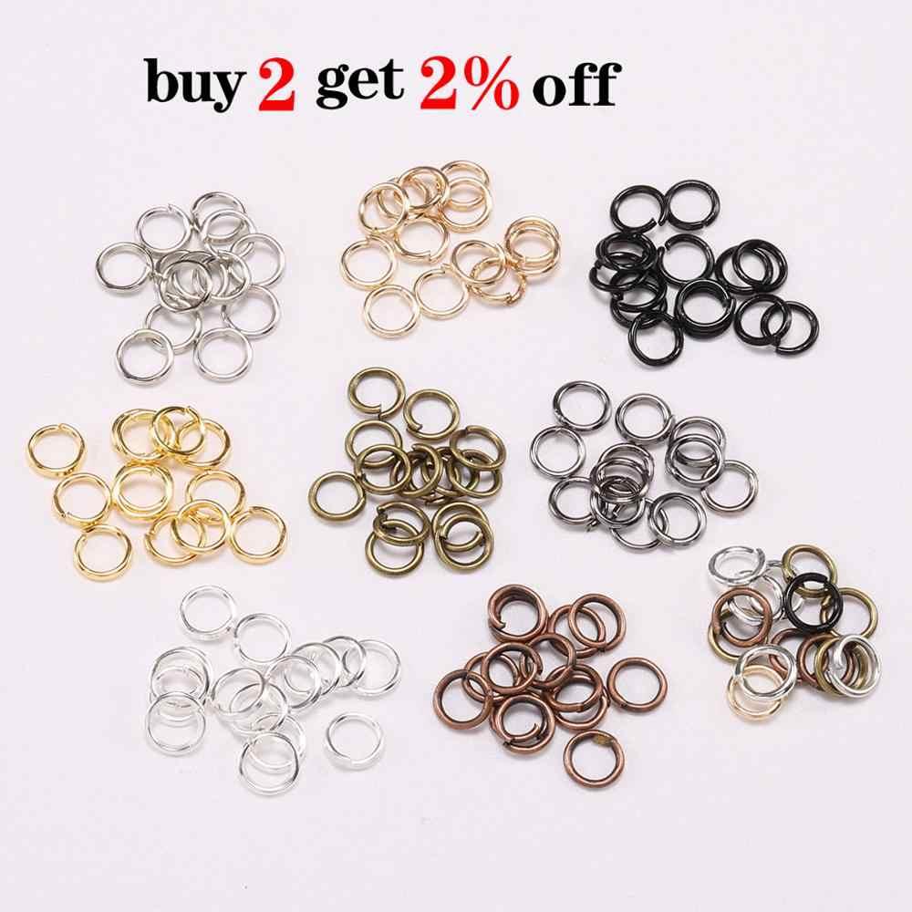 200 pcs/lot 4 5 6 8 10 mm anneaux de saut connecteurs pour bricolage bijoux trouver fabrication accessoires fournitures en gros