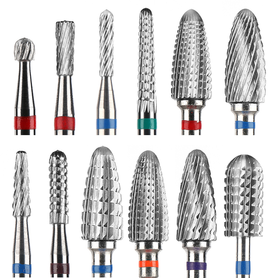 30 Types Tungsten Nail Drill Bits Machine Milling Cutter Burrs Manicure Pedicure Cuticle Polishing Tools Accessories LAYS01-30