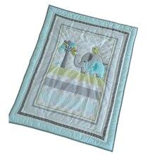 Детское Хлопковое одеяло-кроватка с милым рисунком, одеяло для новорожденных, теплое и мягкое одеяло для малышей-33*42 в