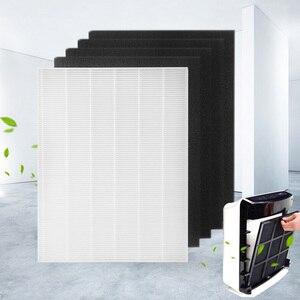 Image 4 - 4 stück Luftreiniger Teile Carbon pre filter und 1 stück Wichtigsten HEPA filter für Winix 115115 5300 5500 6300