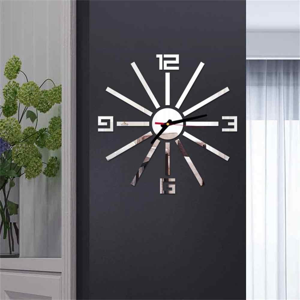 ウォールクロックパターン高級大型 Diy 3D 装飾壁ステッカー家の装飾時計リビングルームの家の装飾ミラーアートデザイン h4