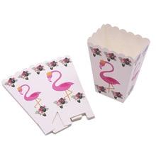 6 шт./лот Фламинго попкорн коробка дети день рождения поставки Фламинго коробки с днем рождения коробки для попкорна Фламинго вечерние поставки