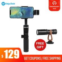 Feiyu SPG 2 Splashproof 3 Axis Handheld Gimbal for Smartphone iphone Xs Samsung Stabilizer Gopro 7 6 5 PK DJI Osmo mobile 2