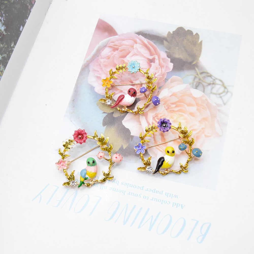 Cindy Xiang Dello Smalto Uccello E Fiore Spille per Le Donne Carino Piccolo Animale Spille Monili di Cerimonia Nuziale 3 Colori Avaibale di Alta Qualità nuovo