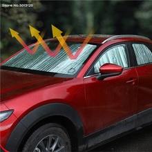 Car Front Rear Window Sunshade Sunroof  Mesh Window Sun Visor Shield  Protector Aluminum Foil for Mazda CX 30 CX30 2020 2021