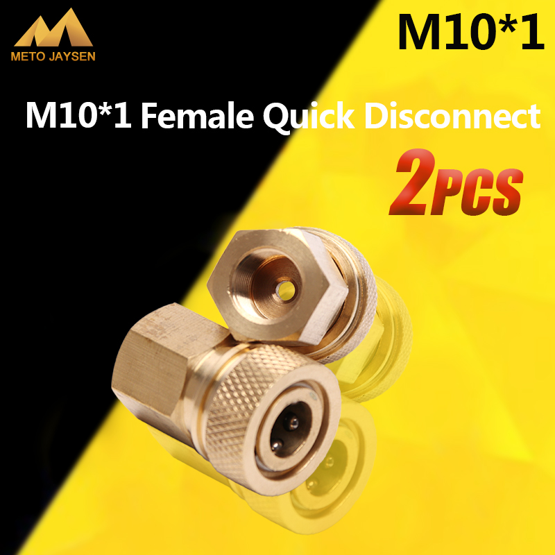 Paintball PCP Airforce M10x1 Female Quick Disconnect Coupling Connector Copper 8mm Fittings Socket 2pcs/set
