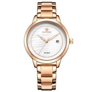 Image 5 - Naviforce relógio feminino, relógio de marca de luxo simples de quartzo, relógio de pulso à prova d água, moda feminina, relógios casuais, menina, relógio