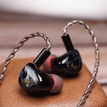 QOA Vesper 1DD+1 Knowles BA Hybrid Driver Unit HIFI In Ear Earphone DJ Music Monitor Earbud 2Pin Detach Headset Pink Lady/Mojito
