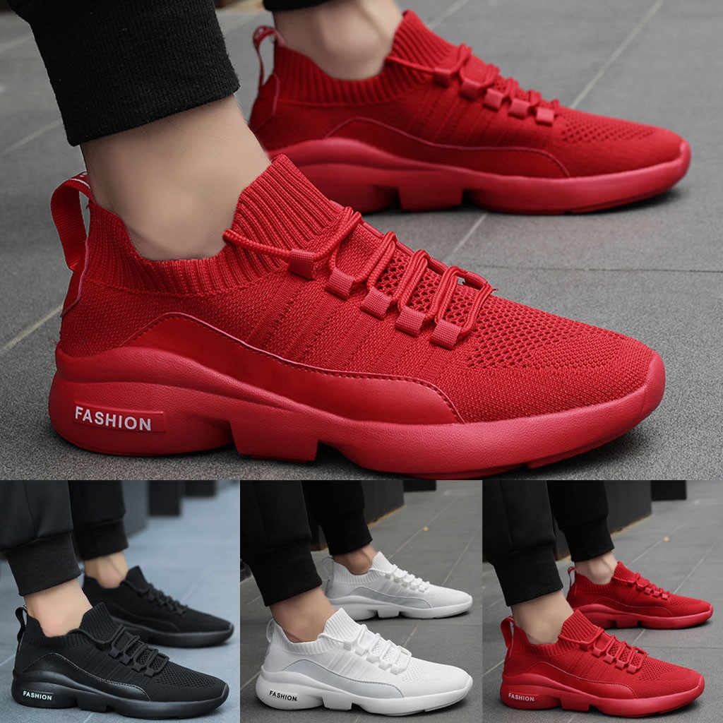 Comfortable Casual Shoes Couple Mesh Breathable sneakers men Lightweight Shock-Absorbing Running Lightweight Big Size Footwear