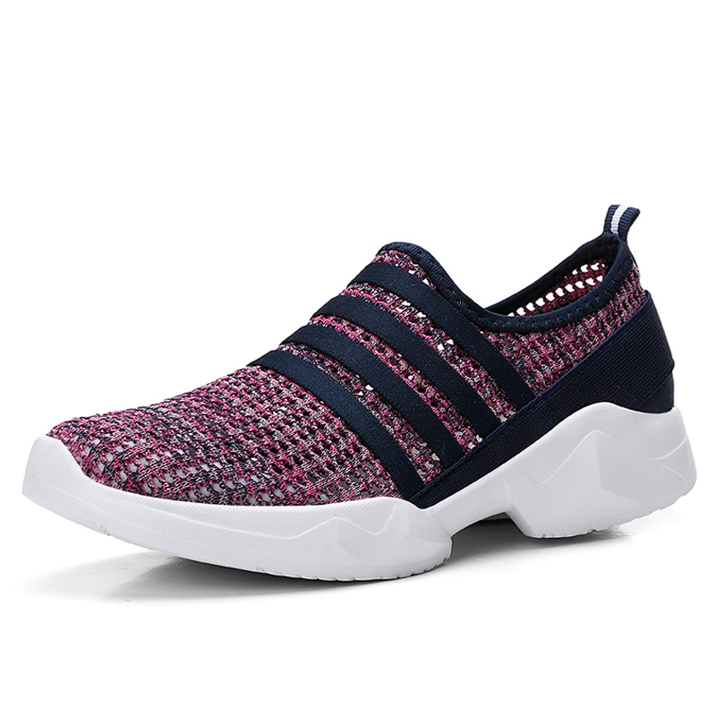 Flats-Shoes Sneakers Comfortable Slip-On Women Mesh Casual Weaving Flying