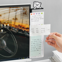 цена на Creative Cartoon Anumal Computer Side Message Board Plastic Memo Pad Board With Ruler Scale Sticky Board For Computer Screen