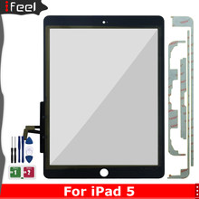 For iPad Air 1 iPad 5 A1474 A1475 A1476 Touch Screen Digitizer with Button Front Glass Display Touch Panel Replacement