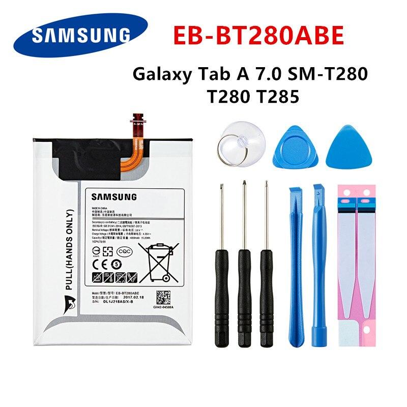 SAMSUNG Orginal Tablet EB-BT280ABE 4000mAh Battery For Samsung Galaxy Tab A 7.0 SM-T280 T280 T285 Tablet Battery +Tools