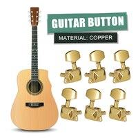 6x Maschine Mechaniken Tasten Zubehör Gitarre String Tuning Pegs Semi-Geschlossen Tuner Mechaniken für Akustische Gitarre