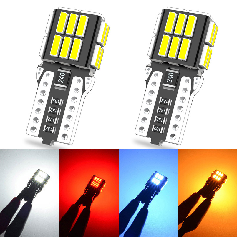 2 uds Canbus T10 W5W bombilla LED 24SMD 4014 Led luces interiores para automóvil para Geely Emgrand EC7 X7 MK 7 Citroen C1 C3 C5 X7 C4 Picasso