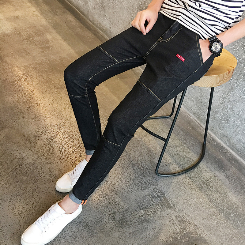Autumn And Winter New Style Elasticity Jeans Men's Teenager Fashion Korean-style Slim Fit Versatile Skinny Pants Fashion
