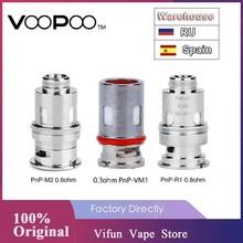 5 sztuk paczka oryginalny VOOPOO PnP cewki PnP-M2 0 6ohm i PnP-R1 0 8ohm i PnP-VM1 0 3ohm spirala grzejna na Voopoo Vinci Vinci X powietrza zestaw z modem tanie tanio undefined 5pcs pack