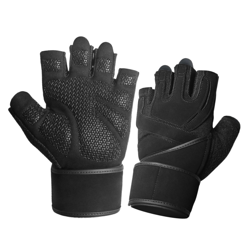 Fitness Gloves Wear-resistant Half Finger Gym Weight Lifting Gloves  Body Building Handwear Training Exercise Workout Gloves