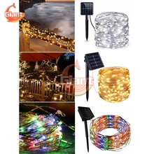 Lights-String Garland Solar-Light Christmas-Party Outdoor Fairy LED Holiday Wedding Waterproof