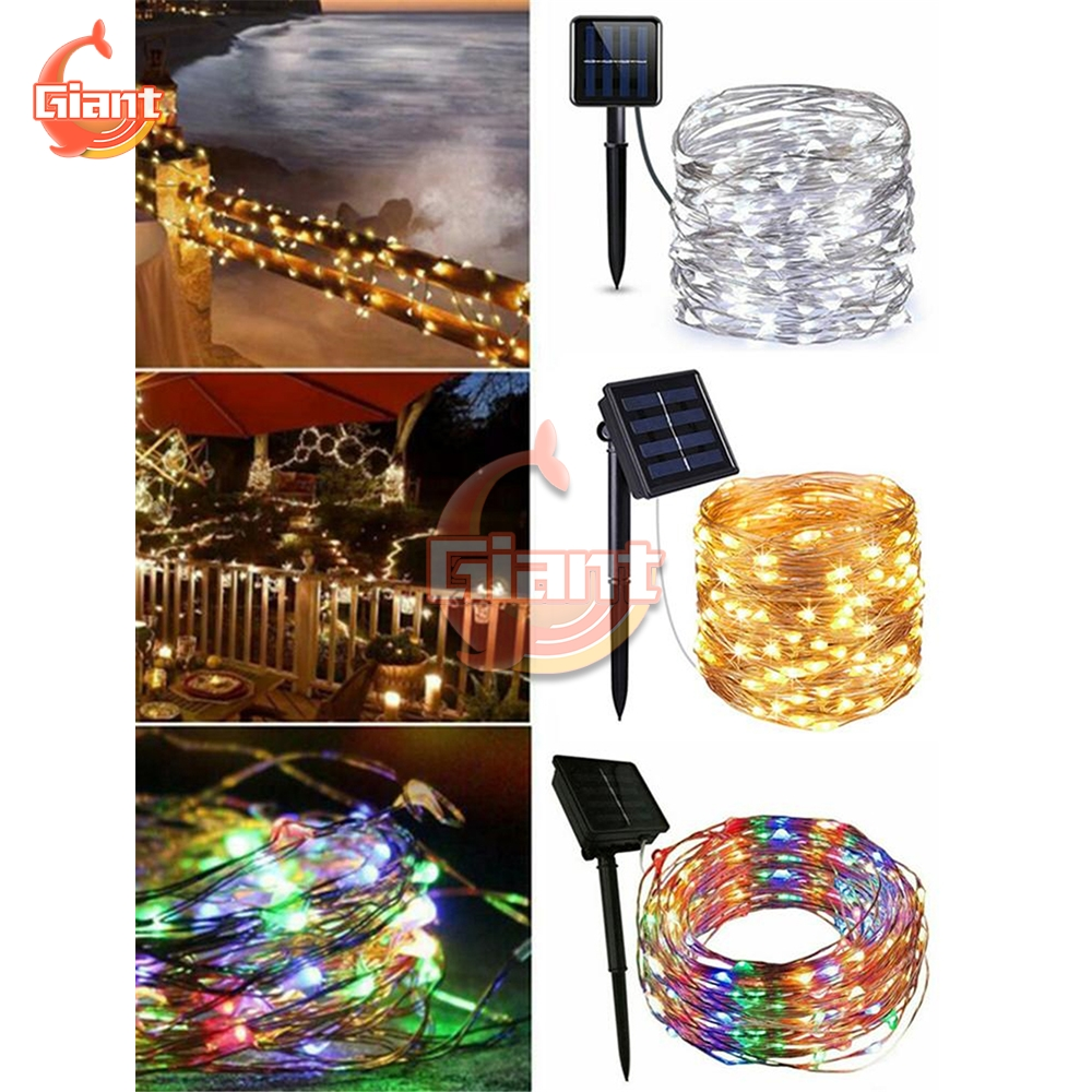 10M 100 LED Solar Light Waterproof Fairy Garland Lights String Outdoor Holiday Christmas Party Wedding Solar Lamp Decor Light