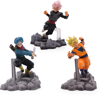 12CM 3 Estilo de Dragon Ball Z Super Saiyan Goku Torankusu bañadores de PVC colección de figuras de acción modelo juguetes para niños