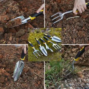 Garden Tool Hand Trowel,Rake,Cultivator,Weeder Tools With Ergonomic Handle,Garden Lawn Farmland Transplant Gardening Bonsai Tool(China)