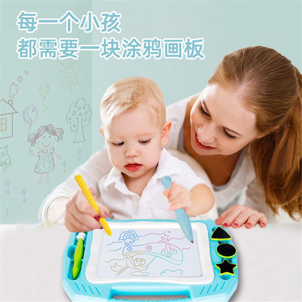 Puzzle Magnetic Writing Painting Drawing Graffiti Board Toy for Children Kids US