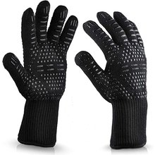 1PC 800 Degrees High Temperature Resistant Gloves Microwave Oven Kitchen Bbq Gloves Anti-Scalding And Heat Insulation Gloves