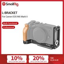 SmallRig M6 Mark II L Bracket With Wooden Handgrip for Canon EOS M6 Mark II Arca Swiss Standard L Plate Mounting Plate  2516
