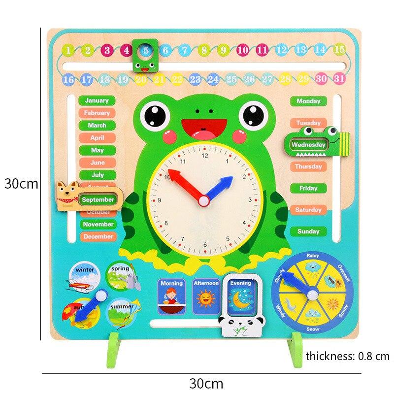Montessori jouets bébé saison météo calendrier horloge temps Cognition éducation préscolaire en bois aides pédagogiques jouets pour enfants - 3