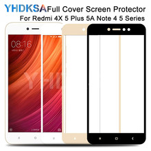 9D Protective Glass on the For Xiaomi Redmi 5 Plus 5A S2 4X Screen Protector Redmi Note 4 4X 5 5A Pro Tempered Glass Film Case
