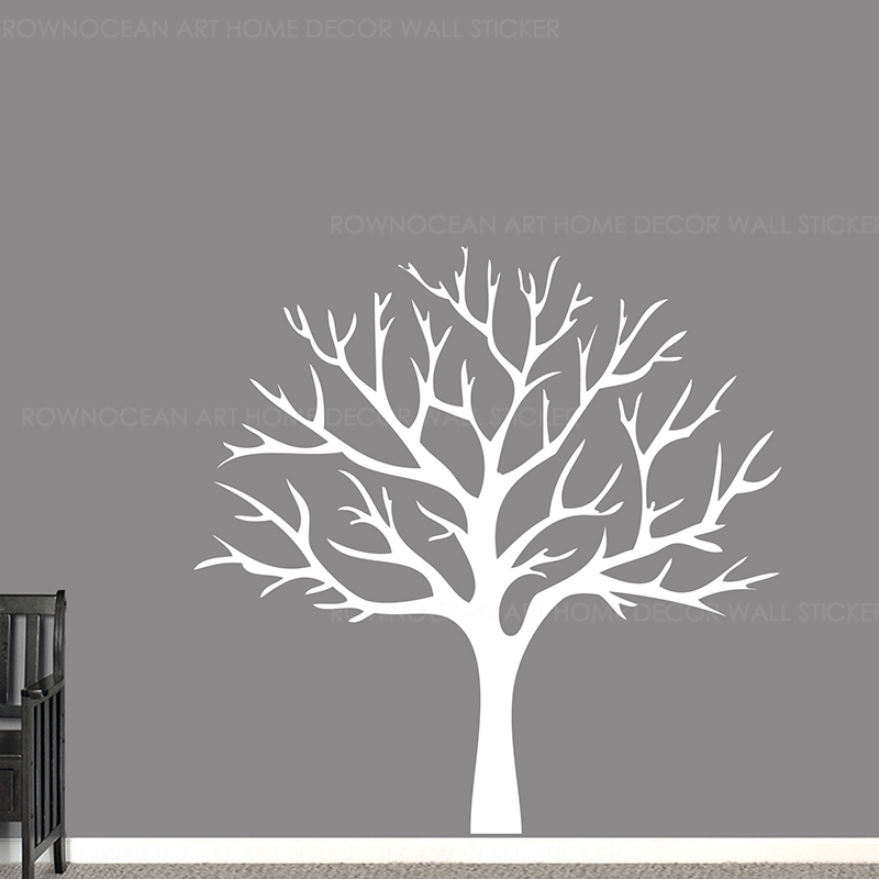 Winter Tree Wall Decal, With No Leaves Mural, Bare Family Mural Decoration DIY Z356