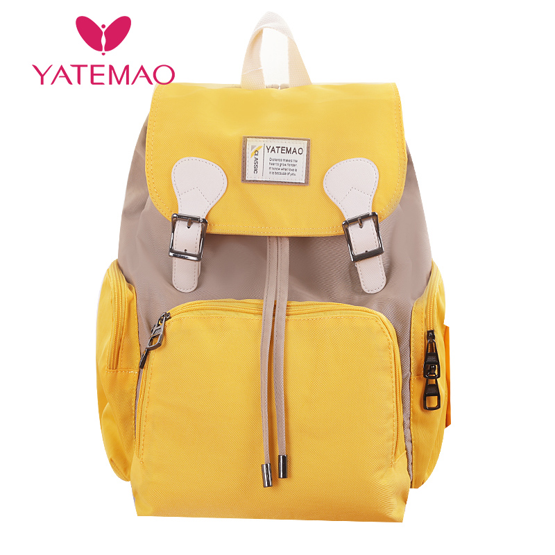 YATEMAO Fashion Mama Bag Maternity Nappy Bag Large Capacity Travel Backpack Nursing Bag For Baby Care Women's Fashion Bag