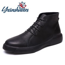 New Arrival Men Boots Ankle Boots For Martin Safety Outdoor Shoes Male Motocycle Adulto shoes Winter Shoes Erkek Bot Size 38-47