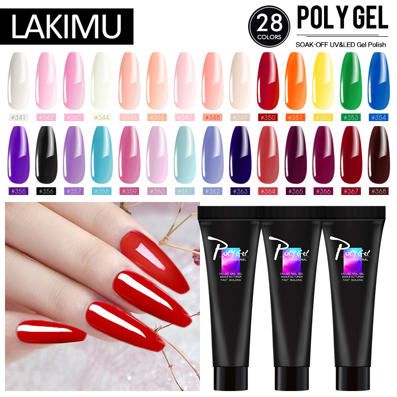 LIKIMU Poly Gel Extension Acrylic Poly Gel Kits French Gel Nail Art Clear Camouflage Color With Nail Tools Crystal UV Poly Gel