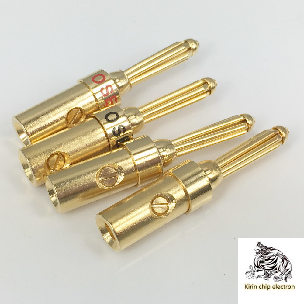 5 PCS/LOTSEL0534D Pure Copper Plated Gold Fragrant Coke Plug Banana Head Horn Wire Connector Weld-free