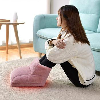 USB elektryczny ciepły ogrzewacz do stóp masażer podgrzewany komfort polarowa zamszowa poduszka zmywalna regulacja ogrzewania ustawienia cieplej tanie i dobre opinie CN (pochodzenie)