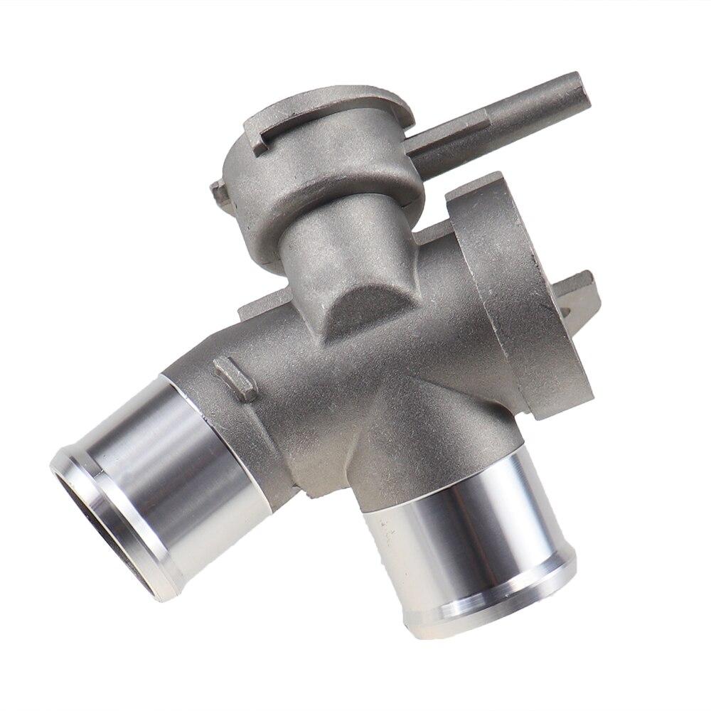 Модернизированный алюминиевый двигатель труба-суб радиатор наполнитель шеи охлаждающей жидкости термостат корпус водопровод Подходит дл...