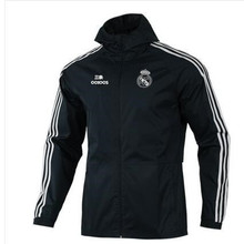 Real Madrid Football Uniform Men's Sports Trench Coat Cw8642