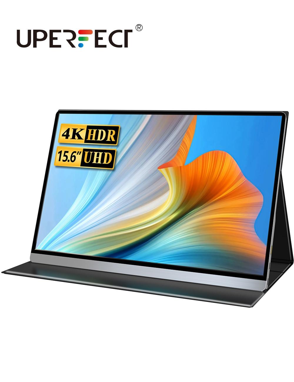 Uperfect 15.6 Polegada 3840x2160 4k ips hdmi portátil monitor de jogos para ps3 ps4 macbook 17.3