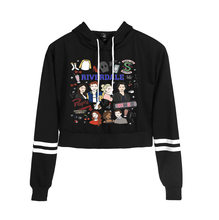 Women print Riverdale hoodie sweatshirts Crop Top Shirt hoodies harajuku long sleeve Lovely hoodies casual clothes(China)