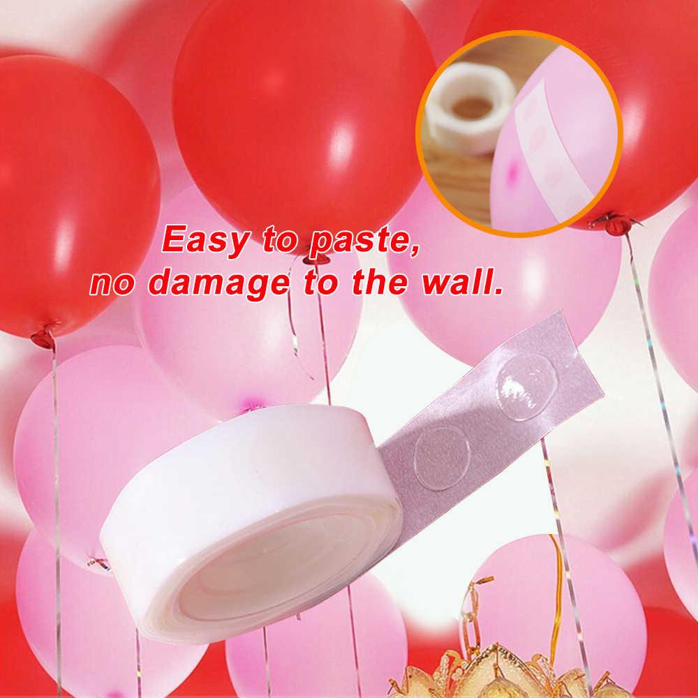 Hasta 100/rollo para globos pegamento puntos foto adhesivo Bostik fiesta cinta doble para Scrapbooking autoadhesivo Traceless DIY Supplies 3