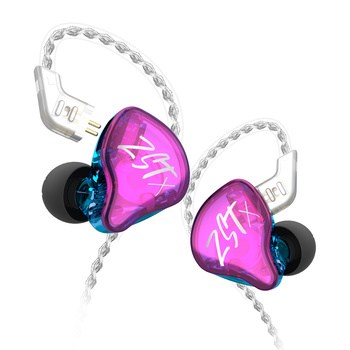 KZ ZST/ZST X Armature Dual Driver Earphone Detachable Cable Noise Cancelling Sport Headset With Mic for ZSN PRO
