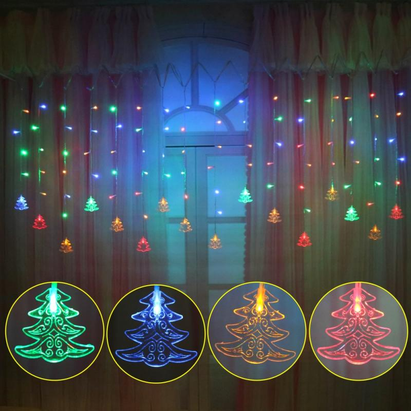 3.5M Led Christmas Tree  Icicle Fairy String Curtain Lights For Wedding Home Garden Party New Year's Decor Drop Shipping